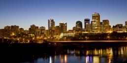 Edmonton evening skyline